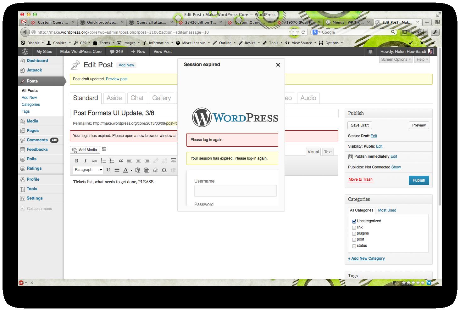 23295 (Improved login expiration warning) – WordPress Trac