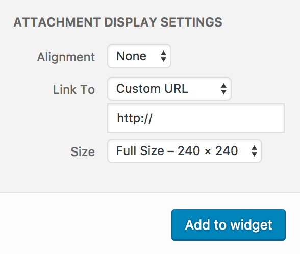 Media Modal Image Attachment Display Settings