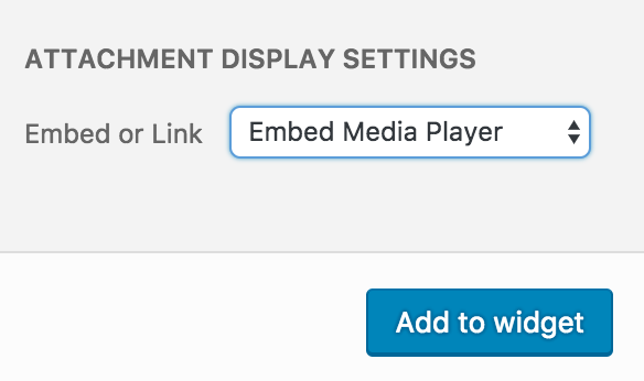 Media Modal Video Attachment Display Settings